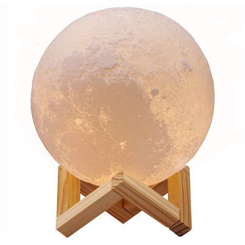 3D Print Colour LED Moon Night Light Lamp Desk Stand + Remote Control